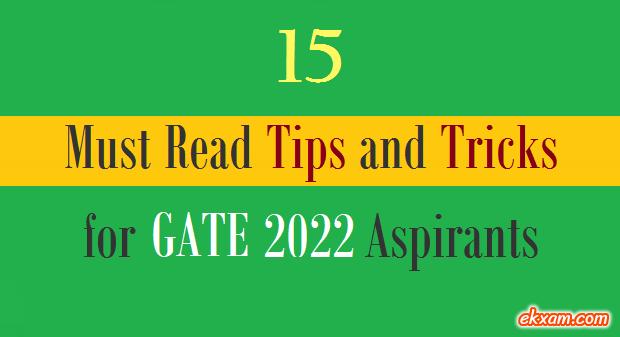 15 tips tricks gate 1