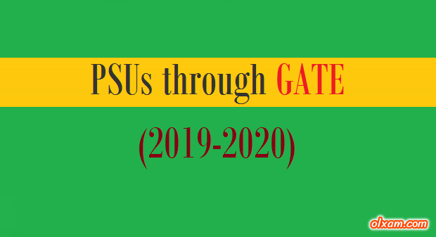 PSUs Recruitment through GATE - (2019-2020) - Ekxam