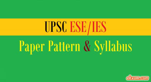 ies paper pattern syllabus