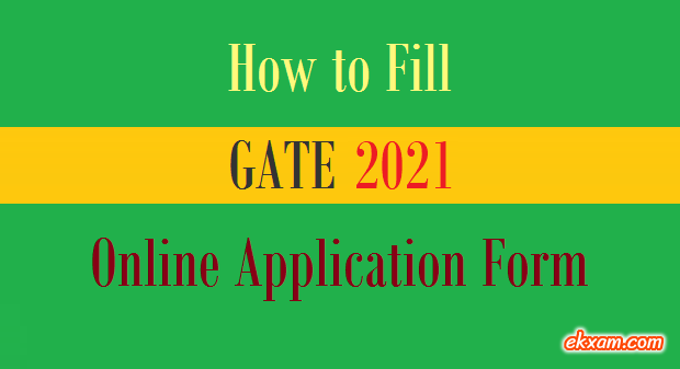 GATE Application Form Fill