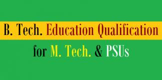 btech mtech psus qualification