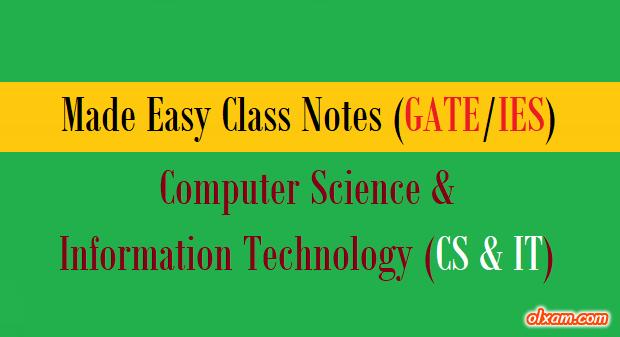 PDF] Made Easy Handwritten Notes – CS & IT (GATE)