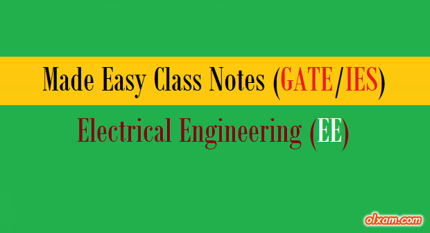 PDF] Made Easy Handwritten Notes – EE (GATE/IES)