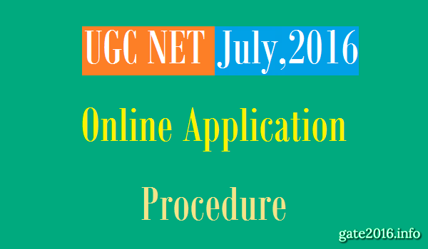 UGC NET July 2016 Application