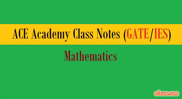 PDF] ACE Academy Handwritten Notes – Maths (GATE/IES)