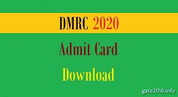 DMRC Admit Card