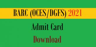 barc admit card