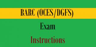 barc oces dgfs exam instrutions