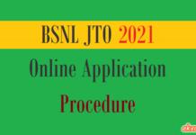 bsnl jto online application procedure