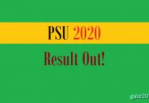 PSU Result 2020