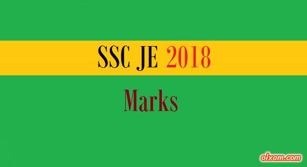 SSC JE Marks 2018