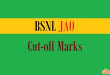 bsnl jao cut off marks