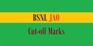 bsnl jao cut off marks