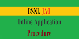 bsnl jao online application procedure