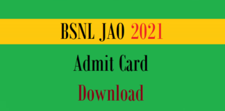 bsnl jao admit card
