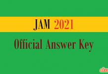 jam official answer key 2021