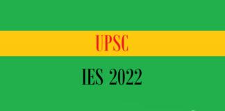 upsc ies 2022