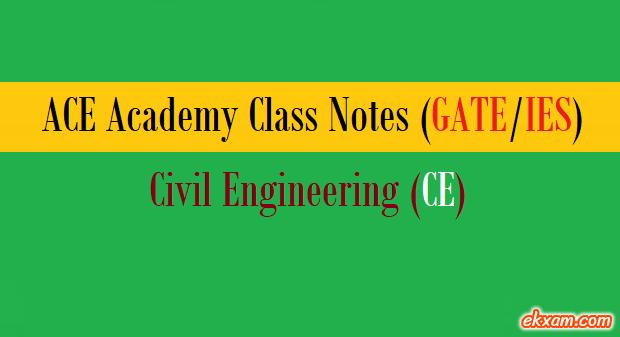 ace academy class notes ce