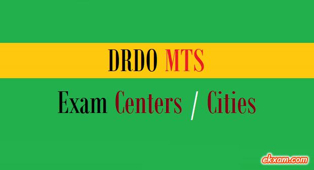 DRDO MTS Exam Centers