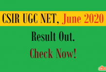 csir ugc net result june 2020