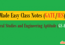 Made Easy Class Notes GS