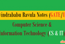 Ravindrababu Ravula Notes CS