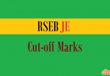 rseb je cut off marks