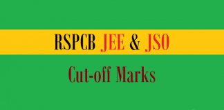 rspcb jee jso cut off marks