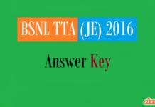 bsnl tta je answer key