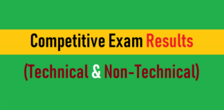 competitive exam results