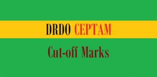 drdo ceptam cut off marks
