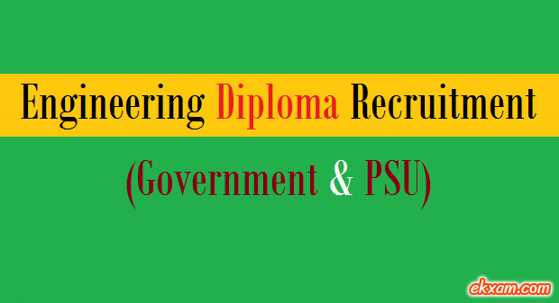 engineering diploma recruitment goverment psu