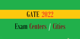 gate exam centers cities