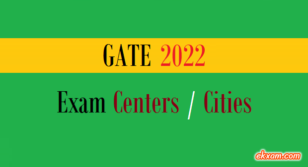 gate exam centers cities