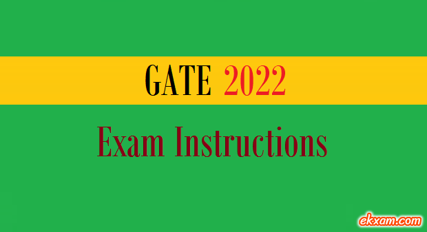 gate exam instructions