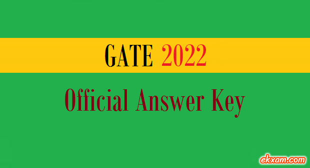 gate official answer key