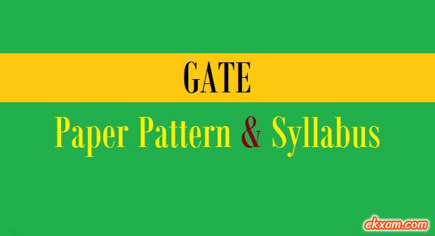 gate paper pattern syllabus