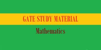 gate study material mathematics