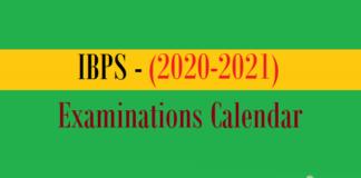 ibps examinations calendar
