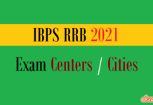 ibps rrb exam centers cities