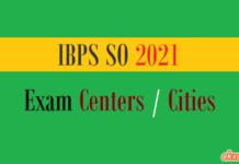 ibps so exam centers cities