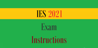 ies exam instructions