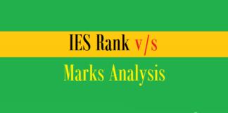 ies rank vs marks analysis
