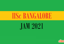 iisc bangalore jam 2021
