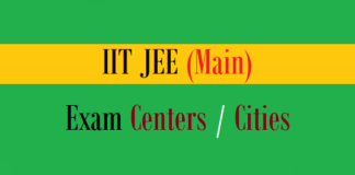 iit jee main exam centers cities