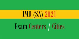 imd sa exam centers cities