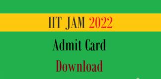 jam admit card