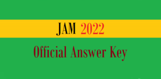jam official answer key