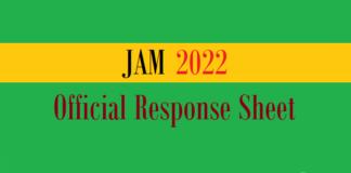 jam official response sheet