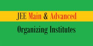 jee main advanced organizing institutes